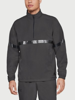 Mikina Under Armour Sportstyle Woven 1/2 Zip Šedá