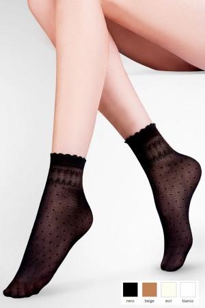 Dámské ponožky 695 Pia beige béžová Univerzální