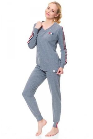 Dn-nightwear PM.9501 Dámské pyžamo S dark grey