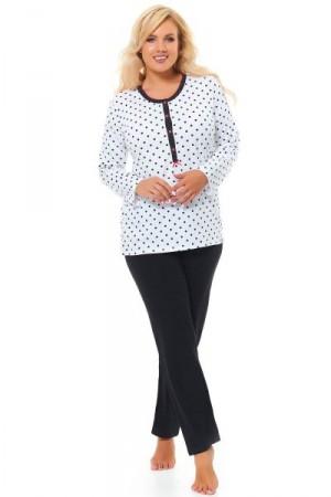Dn-nightwear PB.9547 Dámské pyžamo XL white