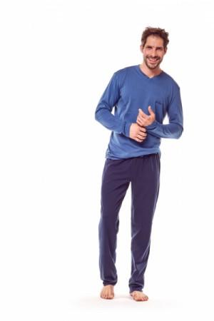 Henderson Golf 36215-59X Modro-tmavě modré Pánské pyžamo XXL tmavě modrá