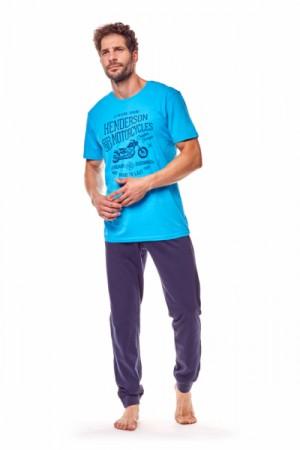 Henderson Force 36204-50X Tyrkysovo-tmavě modré Pánské pyžamo XXL tyrkysovo-tmavě modrá
