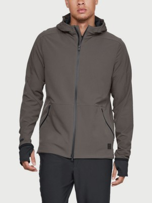 Bunda Under Armour Unstoppable Woven Jacket Hnědá