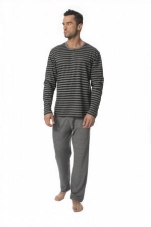 Rossli 117 pánské pyžamo XL šedá-proužky