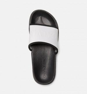Pantofle KW0KW00514-091 stříbrná - Calvin Klein
