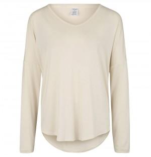 Dámské pyžamové tričko QS6143E-101 slonovinová - Calvin Klein