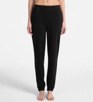 Dámské kalhoty na spaní QS6163E-001 černá - Calvin Klein