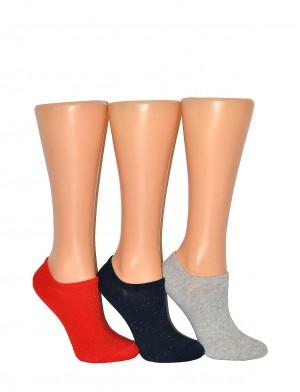 Dámské kotníkové ponožky Bratex Ona Classic 5286 lurex