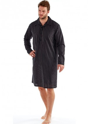 Pánská košilka Fordville MN000102 proužek L Černá