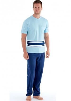 Pánské pyžamo Fordville MN000186 L Sv. modrá