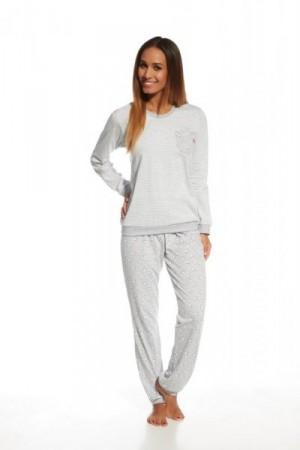 Cornette 671/109 White bear 2 Dámské pyžamo 2XL Melanžová