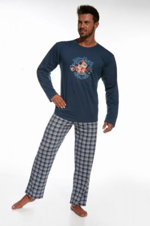 Cornette 124/63 Hockey jeans Pánské pyžamo 2XL jeans