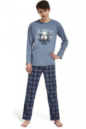 Cornette 553/25 Dakota Pánské pyžamo 170/S modrá