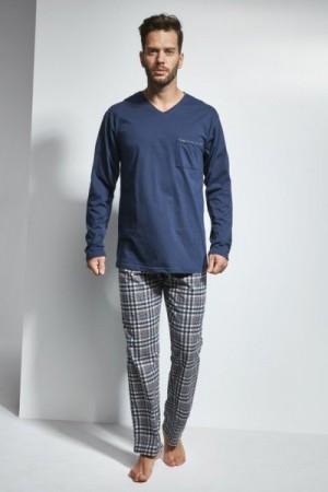Cornette 122/118 Arthur Tmavě modré Pánské pyžamo M tmavě modrá