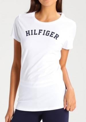 Dámské tričko Tommy Hilfiger UW0UW00091 L Bílá