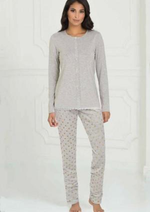 Dámské pyžamo Sielei AN14 S Sv. šedá
