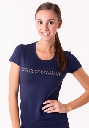 Dámské tričko Emporio Armani 163139 8A263 M Tm. modrá
