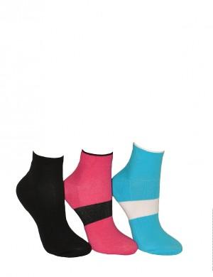Dámské ponožky Bratex Ona Classic polofroté 078