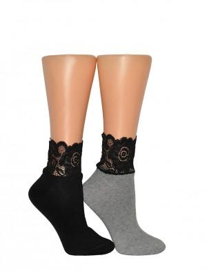 Dámské ponožky Milena 1061 Krajka