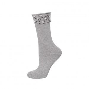 Dámské ponožky s perličkami Soxo bílá univerzální