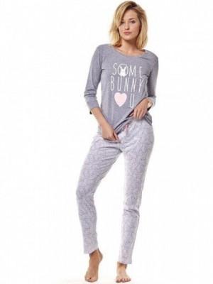 Henderson 36163 90x Šedé Dámské pyžamo M grafitová (tmavě šedá)