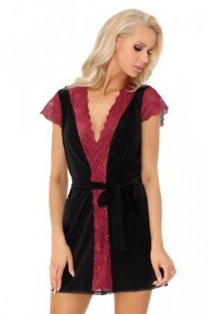 LivCo Corsetti Fashion Dámský župan Kumiko L/XL černo-červená