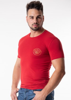 Pánské tričko Emporio Armani 111035 8A595 L Červená