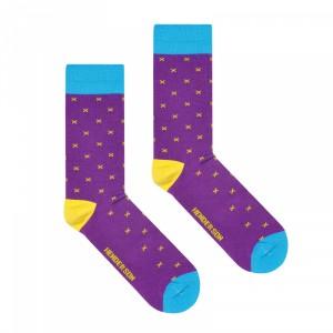 Henderson 36464 Color K006 Pánské ponožky 39-42 fialová
