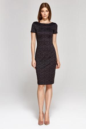 Dámské šaty CS11 - Colett  černo-šedá