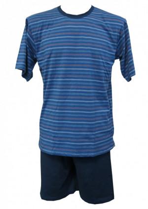 Pánské pyžamo Cornette 338 Various 3XL Jeans-modrá