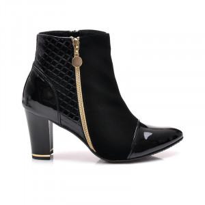 Velice krásné černé kotníčkové boty