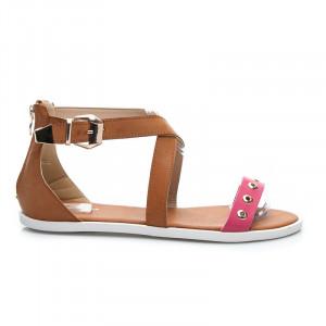 Stylové dámské sandálky s růžovým páskem