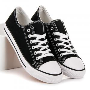 Pohodlné černé textilní tenisky