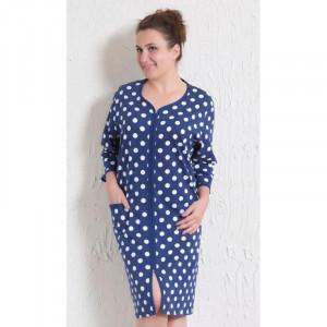 Dámské šaty na zip s puntíky 1618 - Vienetta modrá - puntík