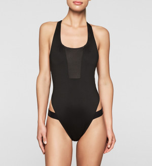 Jednodílné plavky KWOKW00052 - Calvin Klein černá