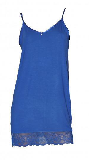 Dámská noční košilka s ramínky De Lafense 394 Dagmara  modrofialová