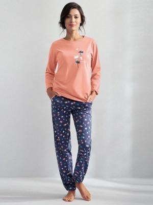 Luna Kaylie 566 Lososové Dámské pyžamo XL lososová
