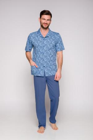 Pánské pyžamo 954 GRACJAN KR 2XL-3XL modrá 2XL