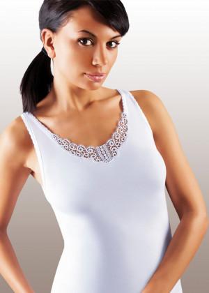 Dámská košilka Ailin plus white bílá