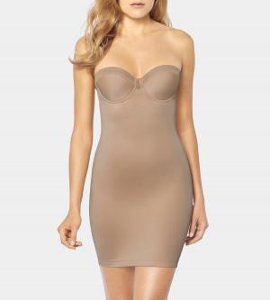 Stahovací šaty True Shape Sensation Bodydress - Triumph hladce tělová (6106) 080D