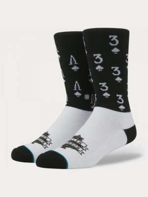 Ponožky Stance Aces Black Barevná