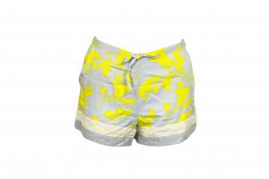 Dámské šortky QS6079E - Calvin Klein šedá - žlutý vzor