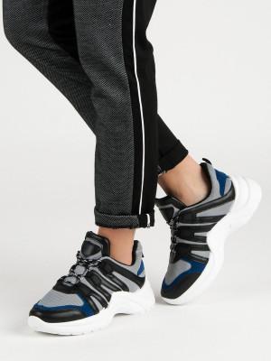 Zajímavé černé  tenisky dámské bez podpatku