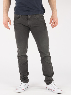 Džíny Replay M914 Pantalone Šedá
