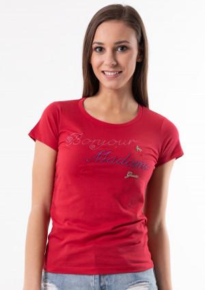 Dámské tričko Guess O92I00 L Červená