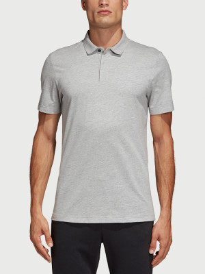 Tričko adidas Performance Mh Plain Polo Šedá