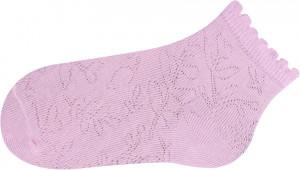 Bílé žakárové ponožky SKL-06 bílá 31-33