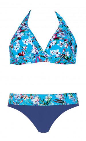 Dvoudílné dámské plavky Self S 115 PG19 modrá-modrofialová 42E-XL