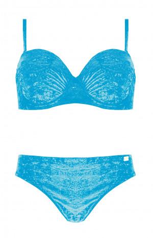 Dvoudílné dámské plavky Self S 734 A19 tmavě modrá 40E-L