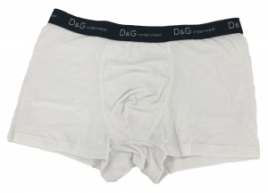 Pánské boxerky O1145 bílá s páskem - Dolce & Gabbana bílá